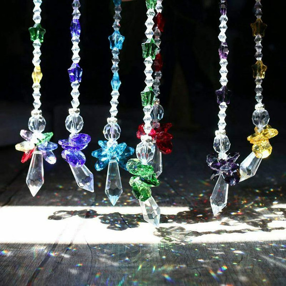 Chakra Crystal Suncatcher Glass Guardian Angel Rainbow Maker Collection Sun G1M5