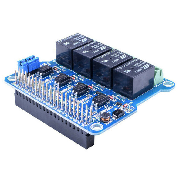 1Pcs Raspberry Pi Power Relay Board Expansion Module Shield Supports Rpi A+/E1S6