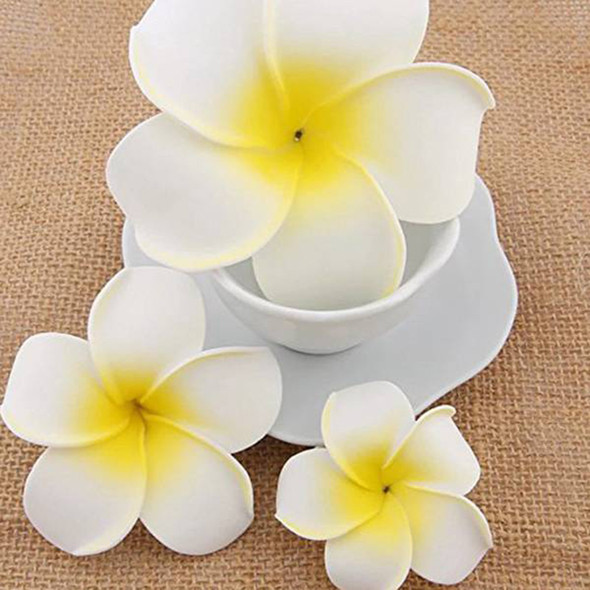 100pcs Frangipani Hawaii Flower Head Foam Decor for Wedding Craft Style Flo D9T6