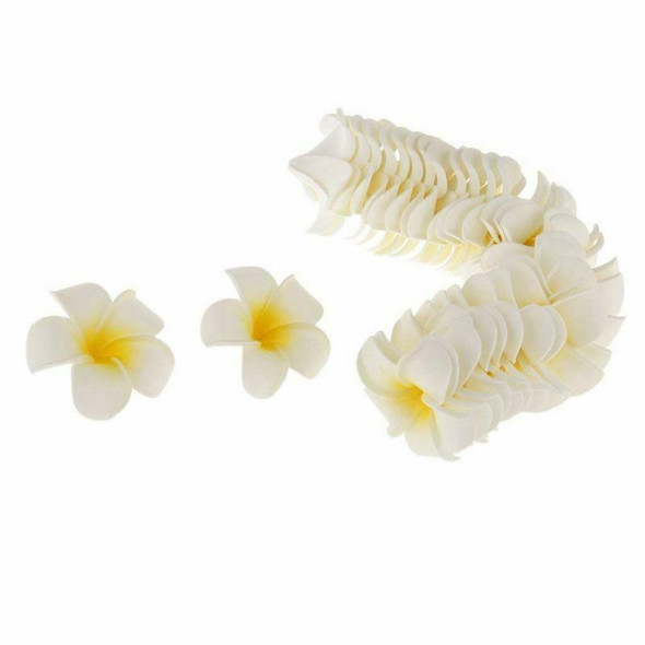 100pcs Frangipani Hawaii Flower Head Foam Decor for Wedding Craft Style Flo N7Y9