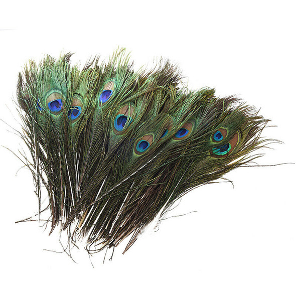 "100 Pcs Peacock Feathers 10""-12"" A4Y7"