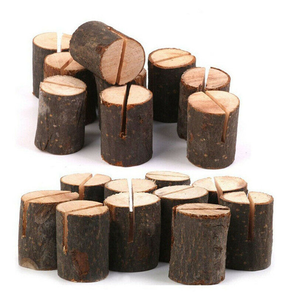 Rustic Wood Table Numbers Holder Wood Place Card Holder Party Wedding Table J8P4