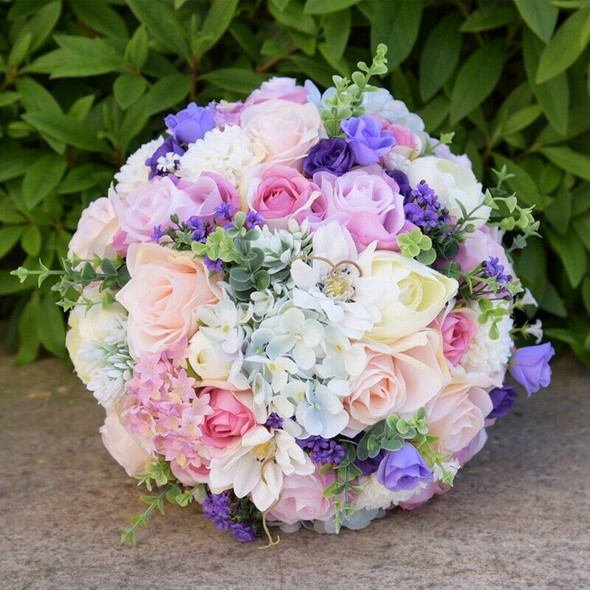 Roses Wedding Bouquet Bridesmaid Bouquet Bridal Bouquet Artificial Flowers  T4V5