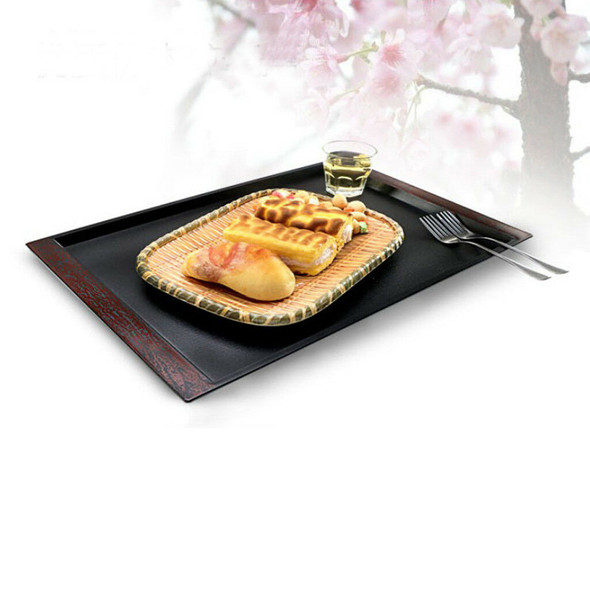 Plastic Food Breakfast Tray Cup Tea Serving Tray Sushi Platter Plate 19''