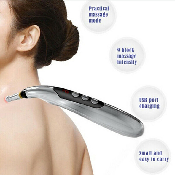 USB Rechargeable Meridian Energy Pen Pain Relief Electric Acupuncture Health