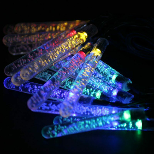 Waterproof 4.8M 20 LEDs Light Garland Stalactite Ice Winter Energy Solar fo I6Y2