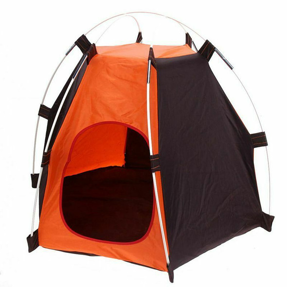 Portable Folding Camping Pet tent Dog House Cage Dog Cat Tent Easy Operatio G9I1