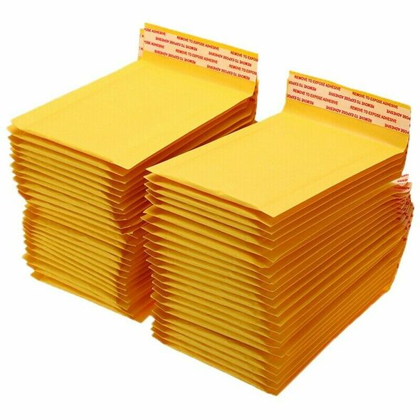 100 Pc/Lot Thickened Kraft Paper Bubble Envelopes Bags Mailers Padded Envel M8Y1