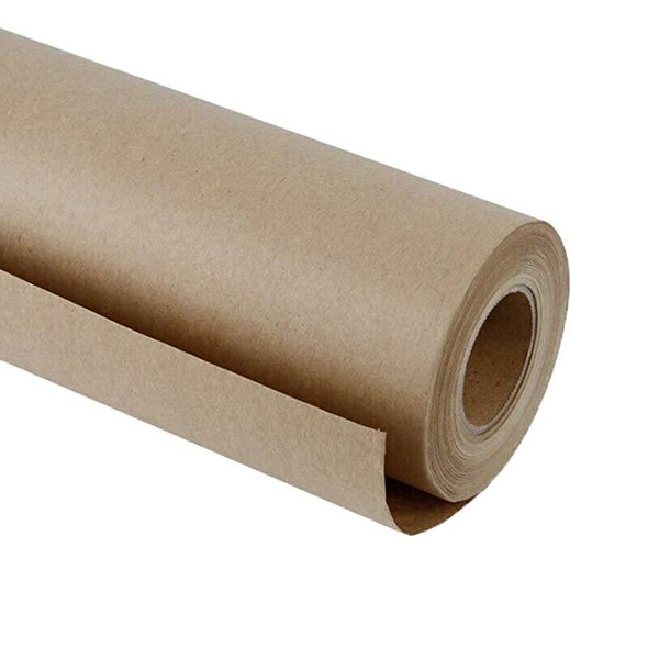 30 Meters Brown Kraft Wrapping Paper Roll For Wedding Birthday Party Gift W Z5I3