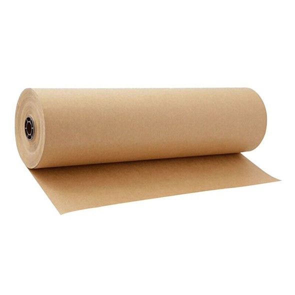 30 Meters Brown Kraft Wrapping Paper Roll For Wedding Birthday Party Gift W X4W2