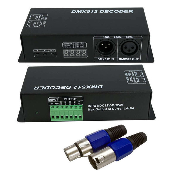 Dmx 512 Digital Display Decoder,Dimming Driver Dmx512 Controller For Led Rg P1F8