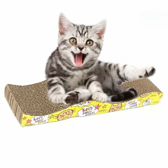 5X(Cat Kitten Corrugated Scratch Board Pad Scratcher Bed Mat Claws Care O1D5)