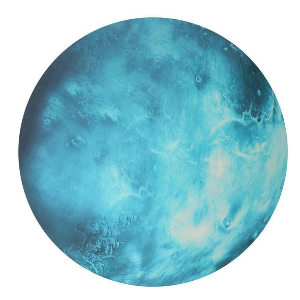 Glow In The Dark 30cm Wall Stickers Round Planets Star Luminous Kids Room Decor