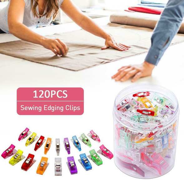Paper 29NU Plastic Sewing Fabric Clips Edging 120PCS Quilting Colorful Binding