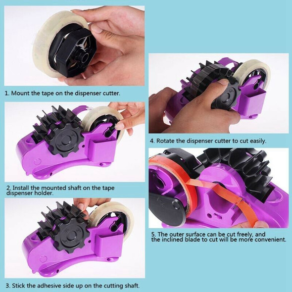 Semi-Automatic Tape Dispenser With 35Mm Fixed Length Tape Cutter Desktop Of O1X2