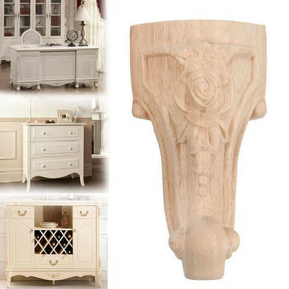 4PCS/LOT 12x6cm European Furniture Foot Carved Wood TV Cabinet Seat Foot Ba S4L1
