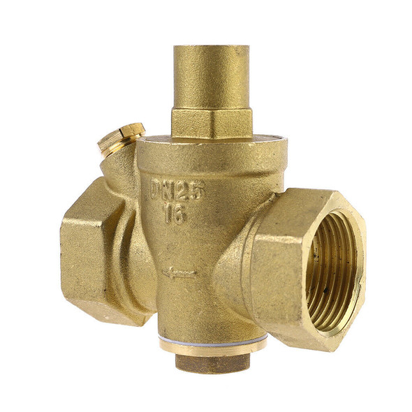 "DN25 1"" Adjustable Brass Water Pressure Reducing Regulator Valve PN 1.6 New"