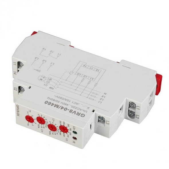 GRV8-04 M460 3-Phase Voltage Monitoring Relay Phase Sequence Phase Failure PZ7S7