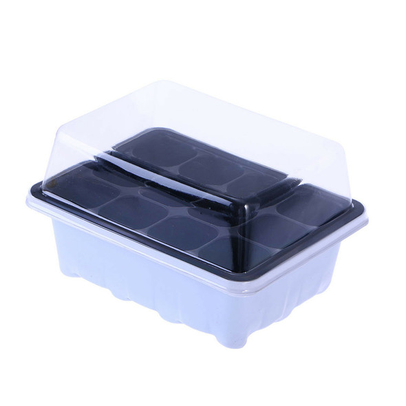 10x Seed Starter Propagation Tray 12 Cell Seedling Plant Clone Greenhouse Dome
