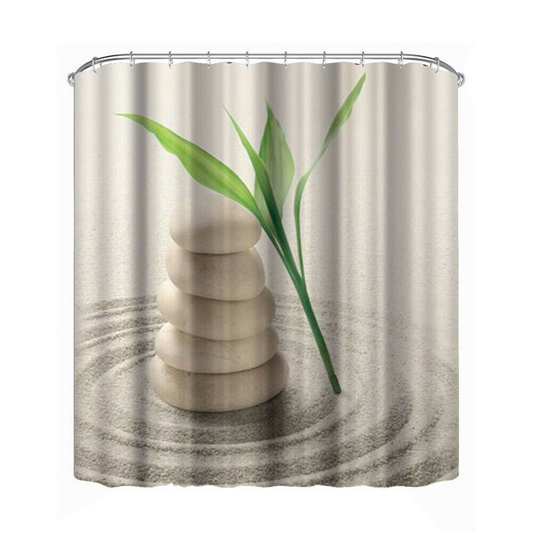 Bathroom Shower Curtain Decoration Waterproof Print (1#)(180*180cm) #JT1