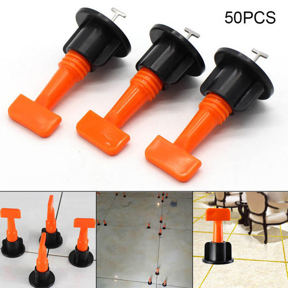 50 x Flat Ceramic Floor Wall Construction Tools Reusable Tile Leveling Best