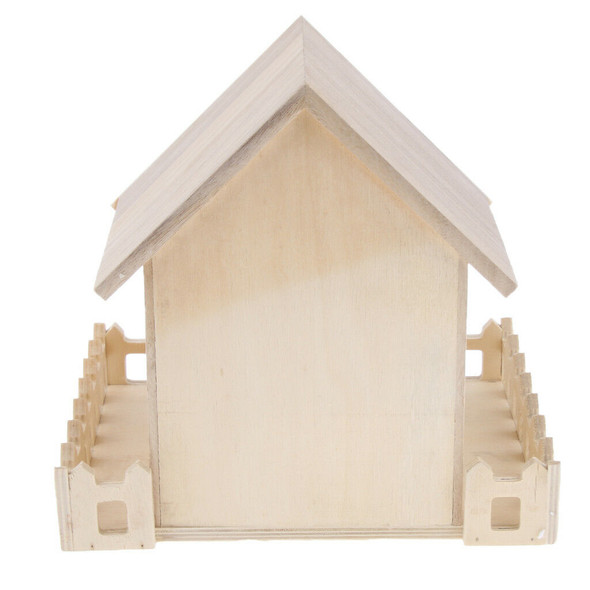 Wooden Bird House Perches Log Cabin for Outdoor / Indoor Hanging Decoration