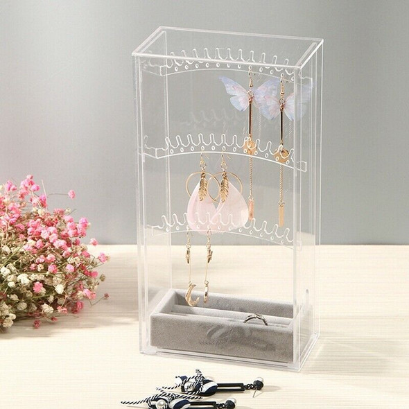 Acrylic Earring Display Stand Organiser Holder Necklace Earring Studs Stora F5B5