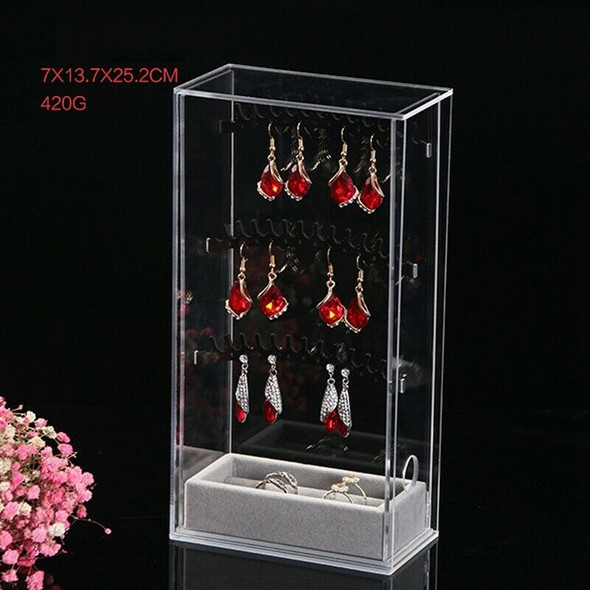 Acrylic Earring Display Stand Organiser Holder Necklace Earring Studs Stora P4B4