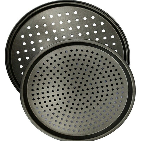 Pizza Pans Carbon Steel Perforated Baking Pan With Nonstick Coating, Round  E2D6