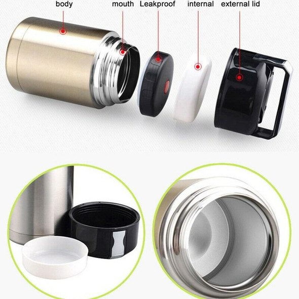 Stainless Steel Insulation Lunch Box for Hot Food with Containers 1000Ml Va J9N3