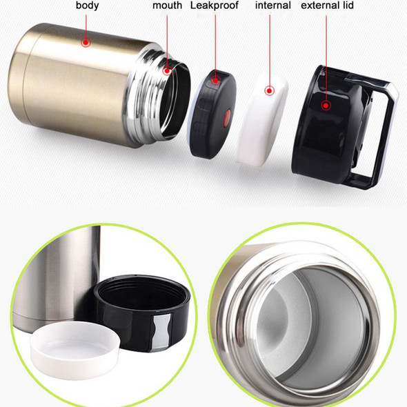 Stainless Steel Insulation Lunch Box for Hot Food with Containers 1000Ml Va X9M9