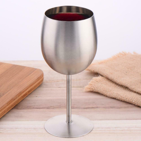 Stainless Steel Wine Glass Goblets Unbreakable Champagne Goblet Cup 300ml Party