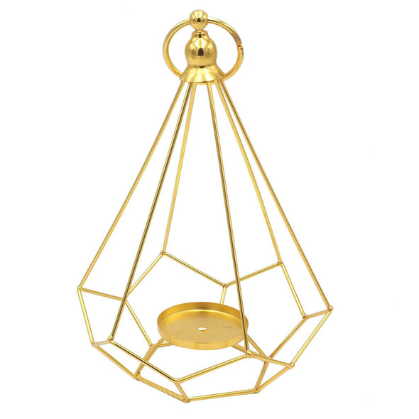 2pcs Geometry Tea Light Candle Holder Hanging Candlestick for Home Wedding