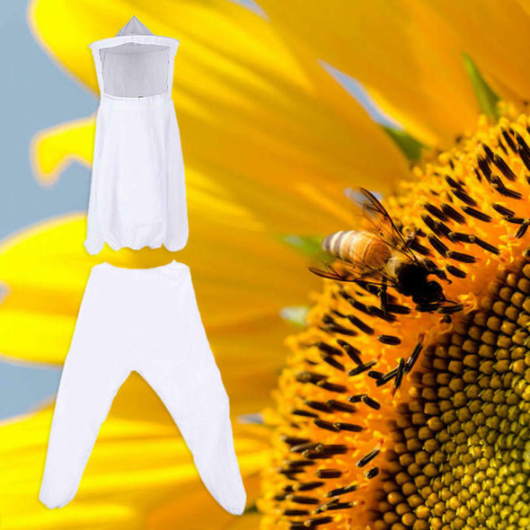 White Top + Pants Chemical Fiber Beekeeping Jacket Durable Well PCT