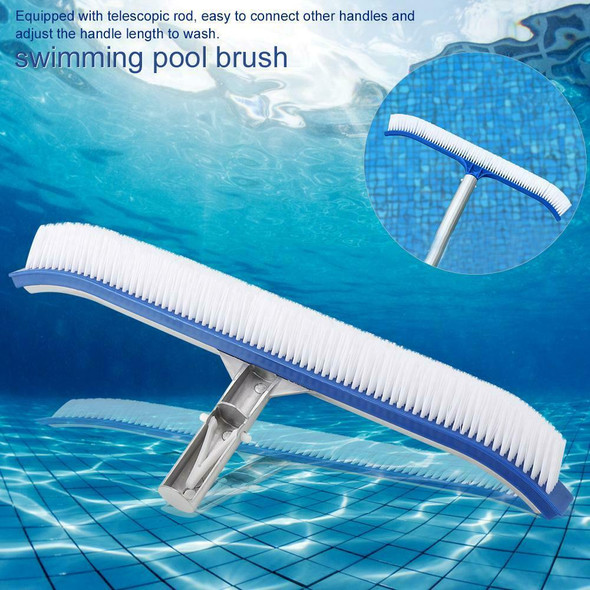 "18"" Swimming Pool Cleaning Brush Heavy Duty Pool Brush Head  Strong Aluminium"