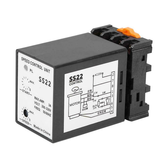 SS22 Separate Motor Speed Control AC 200-220V 400W 3A Speed Adjusting Unit #JT1