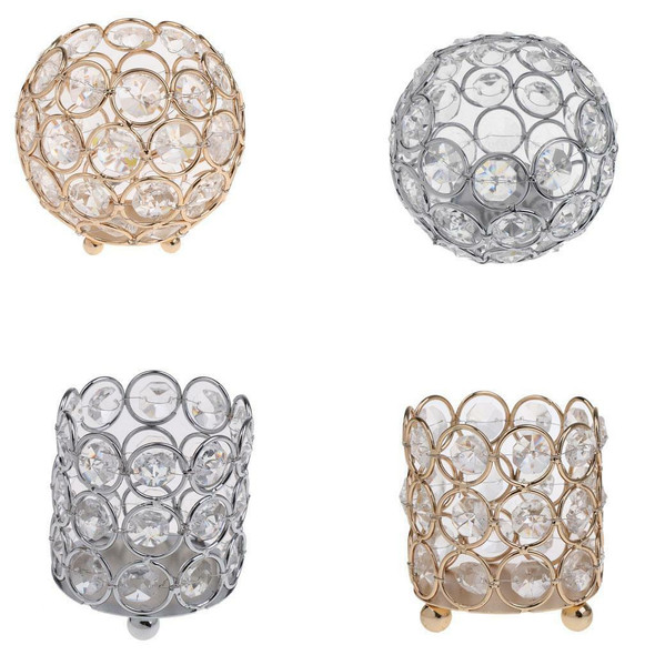 4x Crystal Bling Candle Holder Wedding Centerpieces Candlesticks Table Decor
