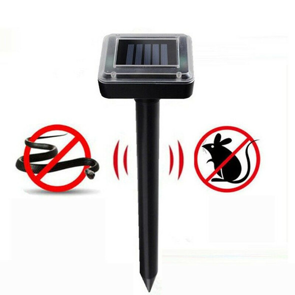 2pc Solar Powered Ultrasonic Sonic Mouse Mole Mice Pest Rodent Chaser Repel U6F6