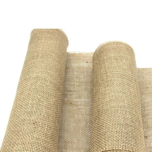 10m Burlap Ribbon Table Runner Rustic Wedding Decoration D4X2