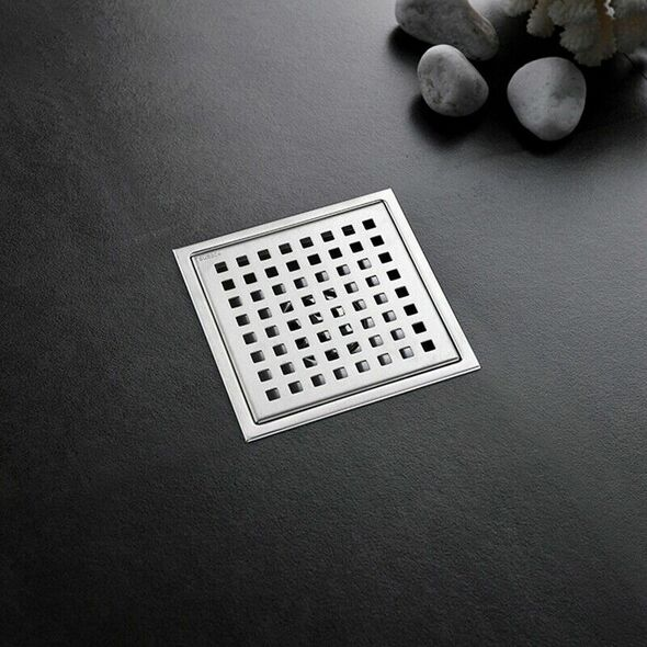 Tile Insert Square Floor Waste Grates Shower Drain 304 Stainless Steel Anti Y5X7