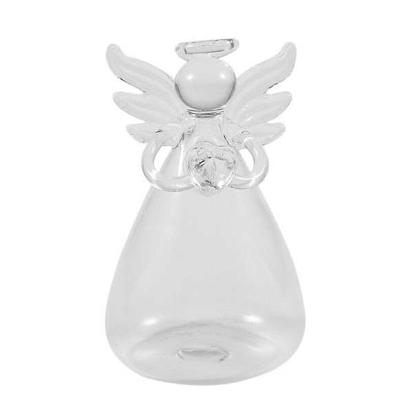 5X(Praying Angel Vases Crystal Transparent Glass Vase Flower Containers Hy G5D9)