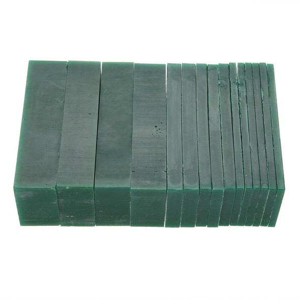 15-Piece Dark Green Jewelry Pattern Making Carving Melting Hard Wax Block