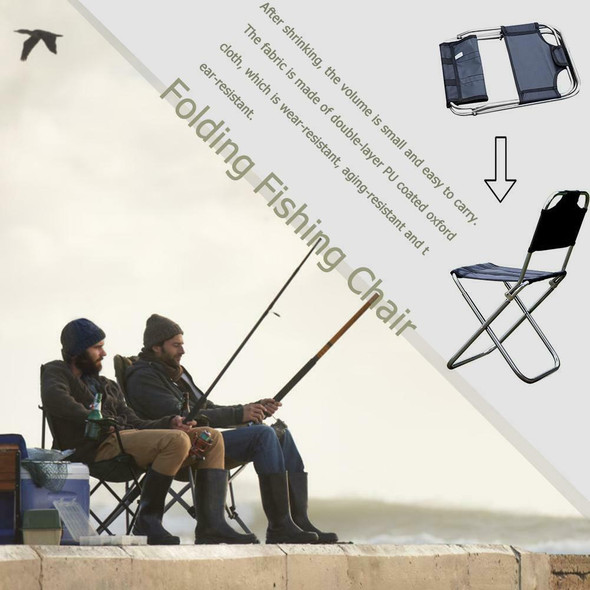 Outdoor Folding Chair 7075 Aluminum Alloy Fishing Camping Chair BBQ Stool #JT1
