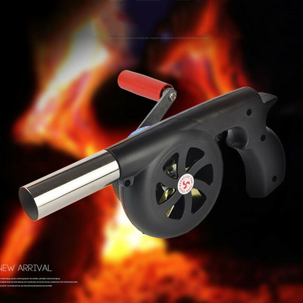 Hand Fan Starter Blower Barbecue Grill Fire Cranked Outdoor Camping BBQ T IO FT