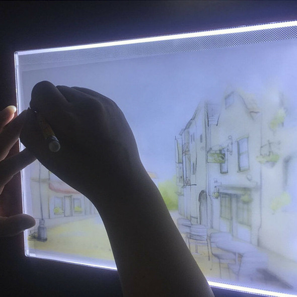 A4 LED Light Graphic Tablet Drawing Painting Panel Stencil Tracing Board Pad New