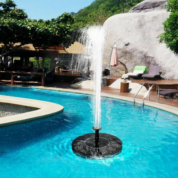 Solar Fountain Pump Floating Bird Bath Water Panel Home Garden Pond Pool