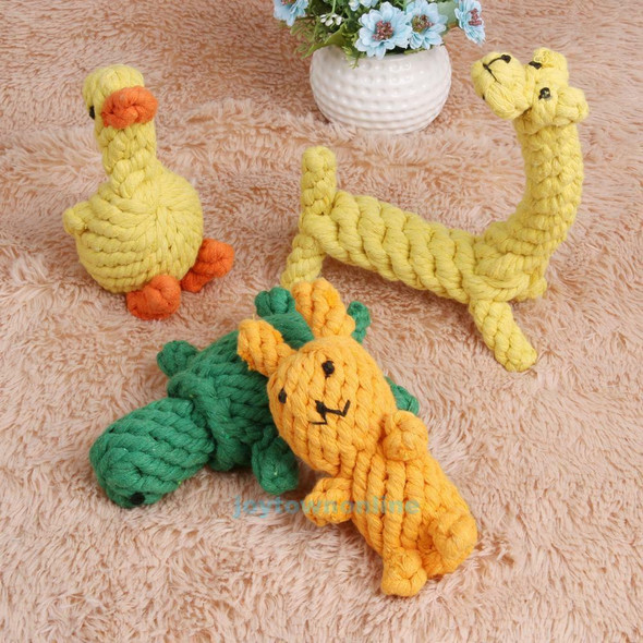 4pcs Durable Animal-Shape Pet Dog Chewing Toys Set Tooth Clean Cotton Rope Toys
