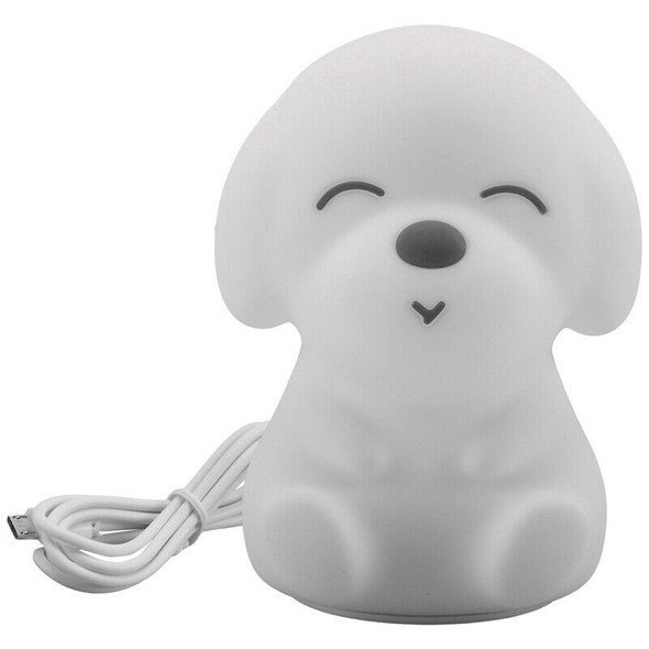 Colorful Dog Led Night Light Animal Light Usb Rechargeable Silicone Soft Ca S7P5