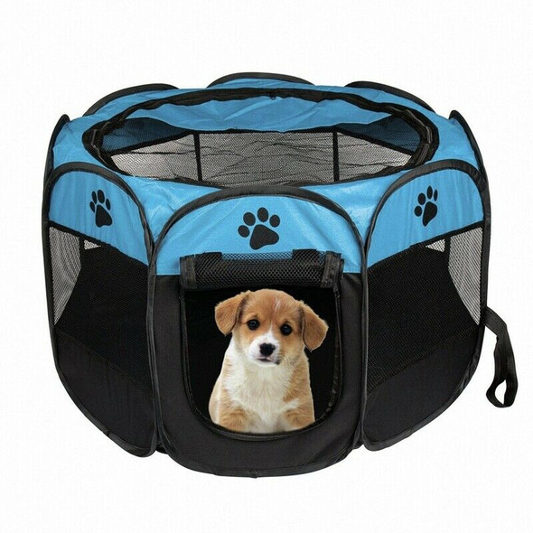 Portable Folding Pet tent Dog House Cage Dog Cat Tent Playpen Puppy Kennel  A9B9