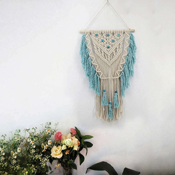 Hand Knotted Macrame Wall Art Handmade Cotton Bohemian Wall Hanging Tapestr N1Y9